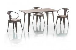 ALMAR jedálenský stôl 140x84 cm, orech/grafit