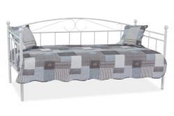 Kovová posteľ Anka - biela