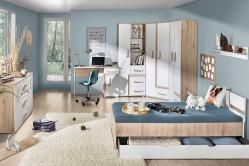 TITO detská izba na mieru, dub svetlý