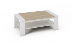 BARNY konferenčný stolík biely/dub sonoma