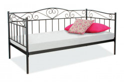 Kovová posteľ BARMA, čierna