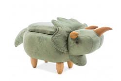 Detská taburetka DINOSAURUS - zelená