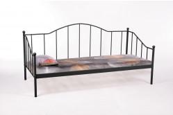 CALAIS kovová posteľ, čierna