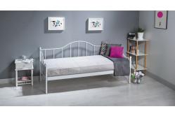 CALAIS kovová posteľ, biela