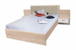 BANDI manželská posteľ so stolíkmi EF2L