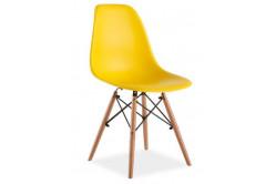 Stolička ENO, buk/žltá