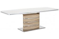 FANY jedálenský stôl 160x90 cm, dub sonoma/biely lesk