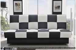 FAGO rozkladacia pohovka, čierno-biela
