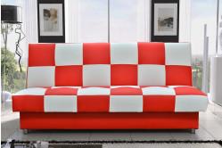 FAGO rozkladacia pohovka, červeno-biela