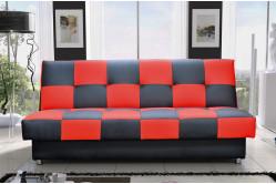 FAGO rozkladacia pohovka, červeno-čierna