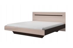TOKHER 32 manželská posteľ 180, dub sonoma/lesklá sivá 24T6AJ32