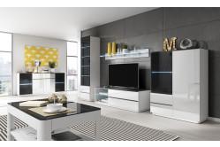 GOTO moderný obývací sektor na mieru biela/čierna