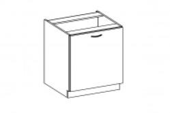 CONIC kuchynská skrinka 60 D 1F BB