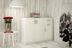 ANES komoda 3D2S, biela
