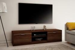 MAREK 028 TV stolík s dvierkami a policami 160cm, slivka walis