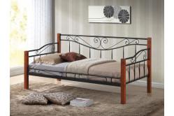 Jednolôžková posteľ DENIA, čerešňa antická/čierna