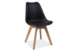 CRIS jedálenská stolička, dub/čierna