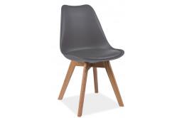 CRIS jedálenská stolička, dub/šedá