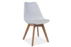 CRIS jedálenská stolička, dub/biela