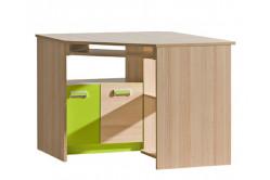 Rohový písací stôl LIMO L11, zelený