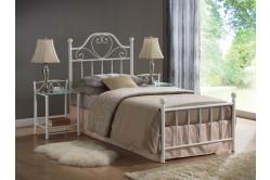 Kovová posteľ LINA 90, biela