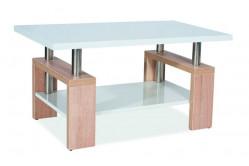 Konferenčný stolík LISA BIS MDF, dub sonoma/biela