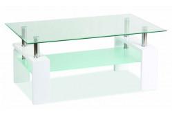 LISA BASIC konferenčný stolík, biely lesk