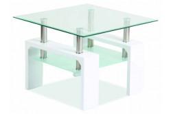 LISA D BASIC konferenčný stolík, biely lesk