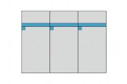 BOBY komoda 3D3S, modrá