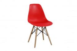Stolička MODENA II, buk/červená