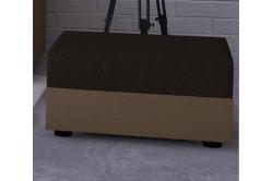 Moderná taburetka MOHITO hnedá/krémová