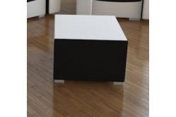 Moderná taburetka MOHITO čierna/biela