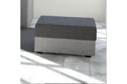 Moderná taburetka MOHITO čierna/šedá