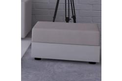 Moderná taburetka MOHITO lososová/biela