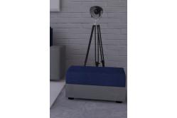 Moderná taburetka MOHITO modrá/šedá
