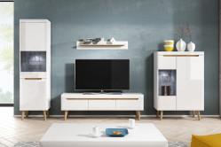 NORD elegantná obývacia stena biela/dub riviéra
