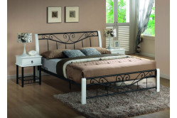 DARMA posteľ 160x200 cm, biela/čierna