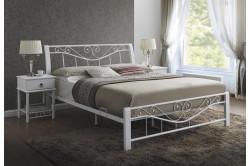 DARMA posteľ 160x200 cm, biela/biela