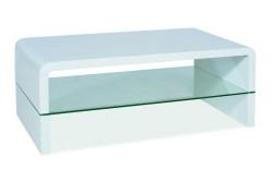 RIKA konferenčný stolík, biely lesk