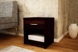 MAREK 026 nočný stolík so zásuvkou, wenge