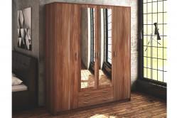 VILMA 4D2S 4-dverová skriňa so zrkadlom, slivka walis