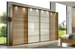 Štvordverová skriňa s posuvnými dverami IBIZA 421 490, magnolia