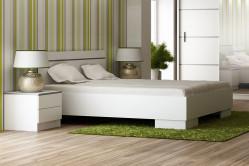VISA posteľ 160, biela
