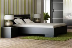 VISA posteľ 160, čierna