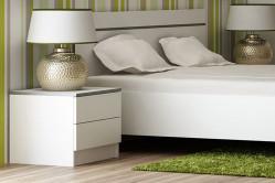 VISA nočný stolík, biely