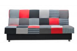 ZIGO rozkladacia pohovka, červeno-čierna
