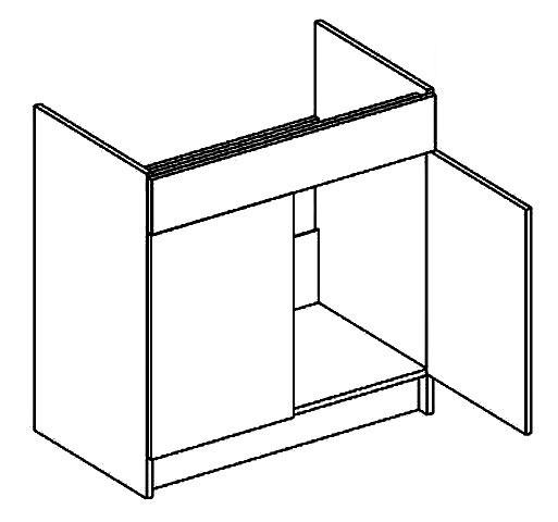 D80ZL dolná skrinka pod drez MOREEN, picard