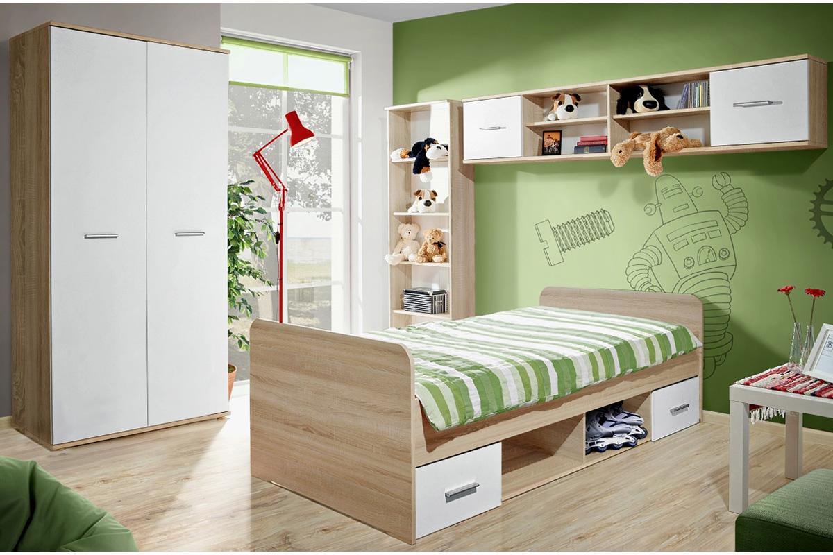 Detská izba DOMINO, dub sonoma/biela