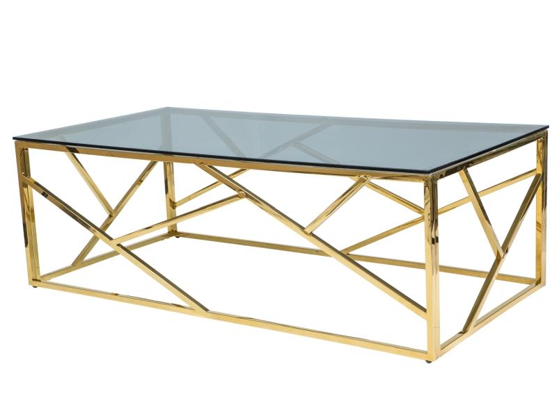 Byvajsnami SK, ESKADA A, 120x60 cm, zlatý/dymové sklo