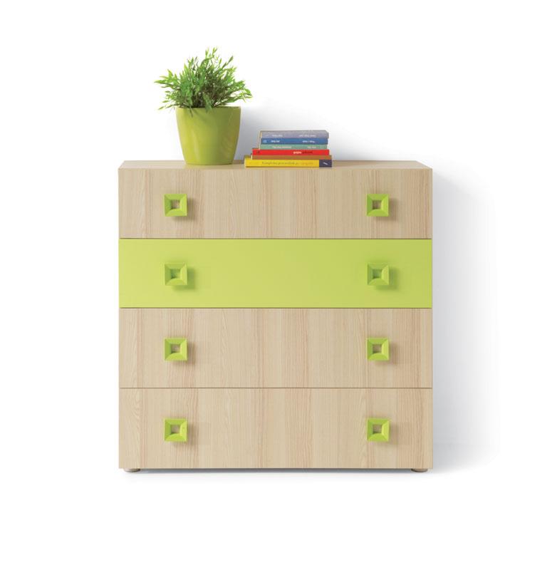 >> Komoda SUNNY 4S, zelená
